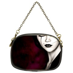 Goth Girl Red Eyes Chain Purses (Two Sides)