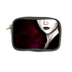 Goth Girl Red Eyes Coin Purse