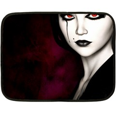 Goth Girl Red Eyes Double Sided Fleece Blanket (Mini)
