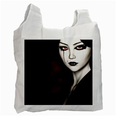 Goth Girl Red Eyes Recycle Bag (One Side)