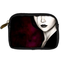 Goth Girl Red Eyes Digital Camera Cases