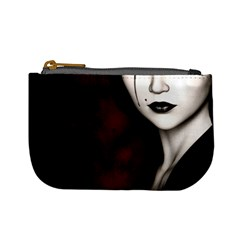 Goth Girl Red Eyes Mini Coin Purses