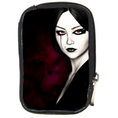 Goth Girl Red Eyes Compact Camera Cases