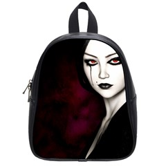 Goth Girl Red Eyes School Bags (small)