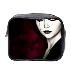 Goth Girl Red Eyes Mini Toiletries Bag 2-Side