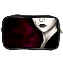 Goth Girl Red Eyes Toiletries Bags