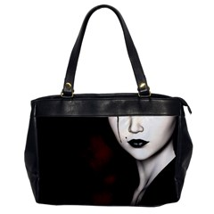 Goth Girl Red Eyes Office Handbags