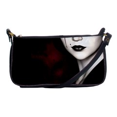 Goth Girl Red Eyes Shoulder Clutch Bags
