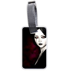 Goth Girl Red Eyes Luggage Tags (One Side)