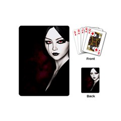 Goth Girl Red Eyes Playing Cards (Mini)