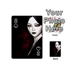 Goth Girl Red Eyes Playing Cards 54 (Mini)