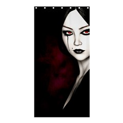 Goth Girl Red Eyes Shower Curtain 36  x 72  (Stall)