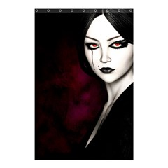 Goth Girl Red Eyes Shower Curtain 48  x 72  (Small)