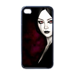 Goth Girl Red Eyes Apple iPhone 4 Case (Black)