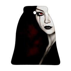 Goth Girl Red Eyes Bell Ornament (Two Sides)