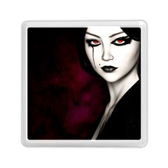Goth Girl Red Eyes Memory Card Reader (Square)