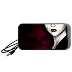 Goth Girl Red Eyes Portable Speaker (Black)