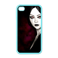 Goth Girl Red Eyes Apple iPhone 4 Case (Color)