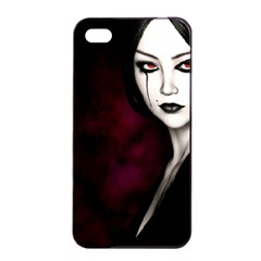 Goth Girl Red Eyes Apple iPhone 4/4s Seamless Case (Black)
