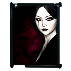 Goth Girl Red Eyes Apple iPad 2 Case (Black)