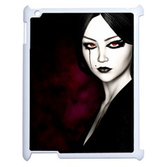 Goth Girl Red Eyes Apple iPad 2 Case (White)