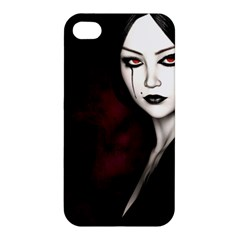 Goth Girl Red Eyes Apple iPhone 4/4S Hardshell Case