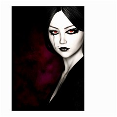 Goth Girl Red Eyes Small Garden Flag (Two Sides)