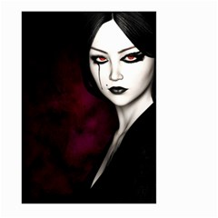 Goth Girl Red Eyes Large Garden Flag (Two Sides)