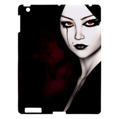 Goth Girl Red Eyes Apple iPad 3/4 Hardshell Case