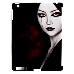 Goth Girl Red Eyes Apple iPad 3/4 Hardshell Case (Compatible with Smart Cover)