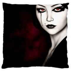 Goth Girl Red Eyes Large Cushion Case (Two Sides)