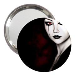 Goth Girl Red Eyes 3  Handbag Mirrors
