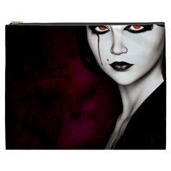 Goth Girl Red Eyes Cosmetic Bag (XXXL)