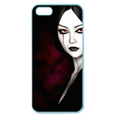 Goth Girl Red Eyes Apple Seamless iPhone 5 Case (Color)