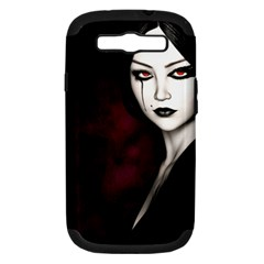 Goth Girl Red Eyes Samsung Galaxy S III Hardshell Case (PC+Silicone)