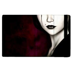 Goth Girl Red Eyes Apple iPad 3/4 Flip Case