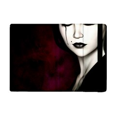 Goth Girl Red Eyes Apple iPad Mini Flip Case