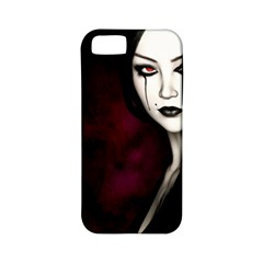 Goth Girl Red Eyes Apple iPhone 5 Classic Hardshell Case (PC+Silicone)