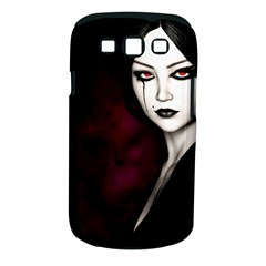 Goth Girl Red Eyes Samsung Galaxy S III Classic Hardshell Case (PC+Silicone)