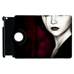Goth Girl Red Eyes Apple iPad 2 Flip 360 Case