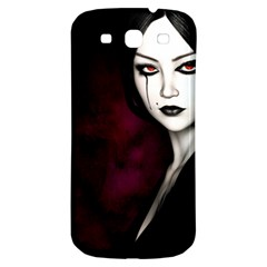 Goth Girl Red Eyes Samsung Galaxy S3 S III Classic Hardshell Back Case