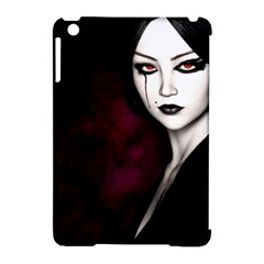 Goth Girl Red Eyes Apple iPad Mini Hardshell Case (Compatible with Smart Cover)