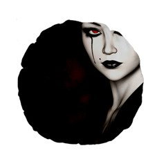Goth Girl Red Eyes Standard 15  Premium Round Cushions