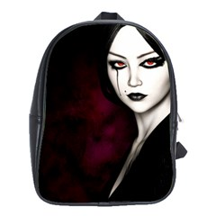 Goth Girl Red Eyes School Bags (XL)