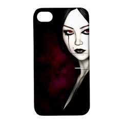 Goth Girl Red Eyes Apple iPhone 4/4S Hardshell Case with Stand