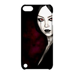 Goth Girl Red Eyes Apple iPod Touch 5 Hardshell Case with Stand