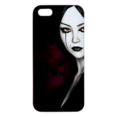 Goth Girl Red Eyes Apple iPhone 5 Premium Hardshell Case
