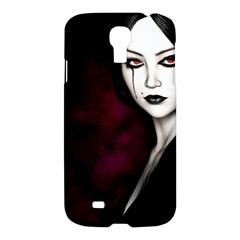 Goth Girl Red Eyes Samsung Galaxy S4 I9500/I9505 Hardshell Case