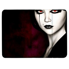 Goth Girl Red Eyes Samsung Galaxy Tab 7  P1000 Flip Case
