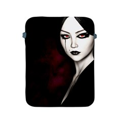 Goth Girl Red Eyes Apple iPad 2/3/4 Protective Soft Cases